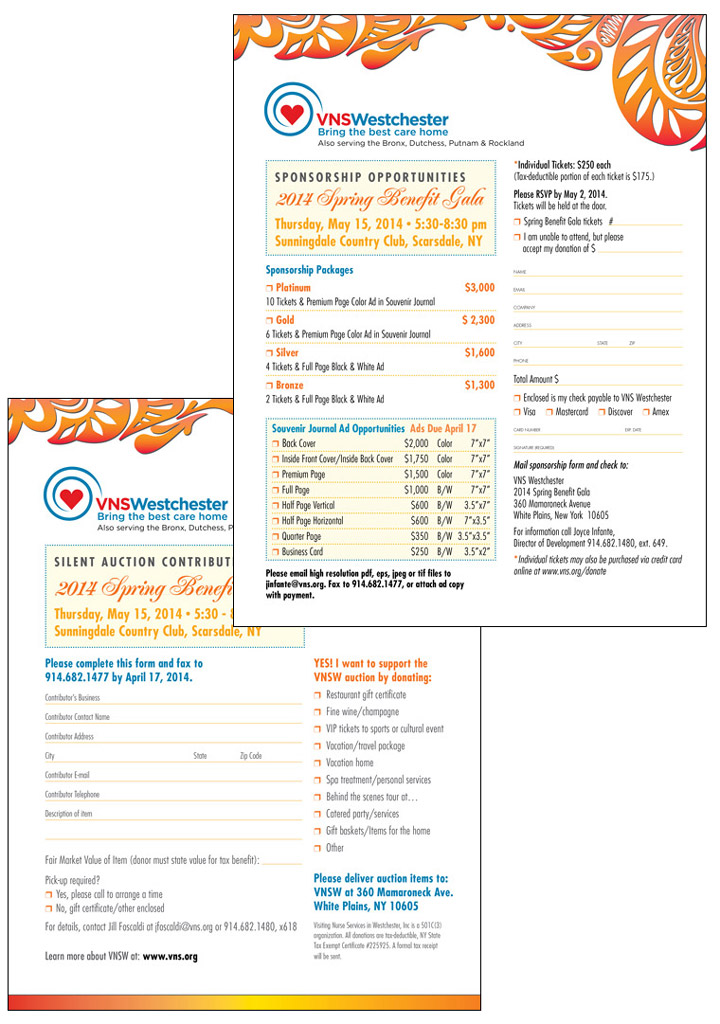 Fundraising Sponsorship Form. Event Marketing Design Gala
