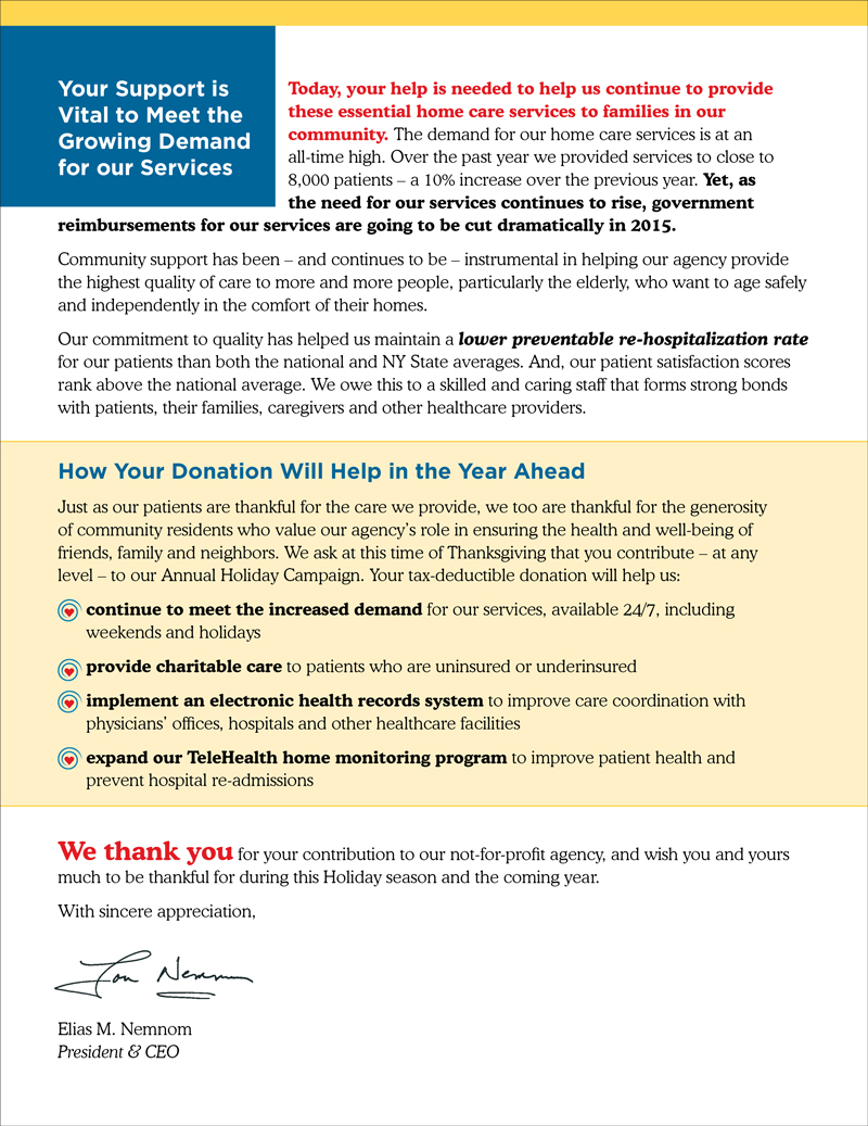 Vns Westchester Year End Appeal Jill Singer Graphics Vns Appeal Letter2