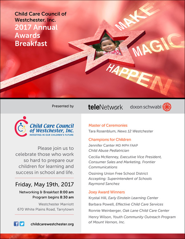 Child Care Council of Westchester Invitation