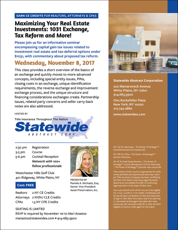 Statewide Abstract Corporation Invitation