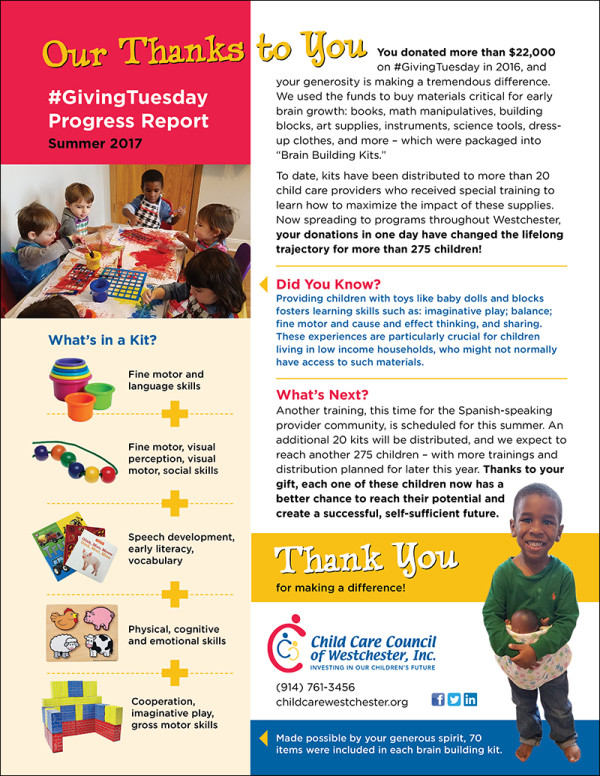 Child Care Council of Westchester Progress Report